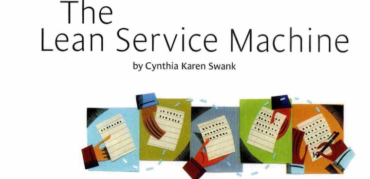 The lean service machine
