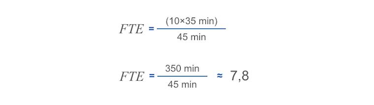 FTE arvutamine näide 2